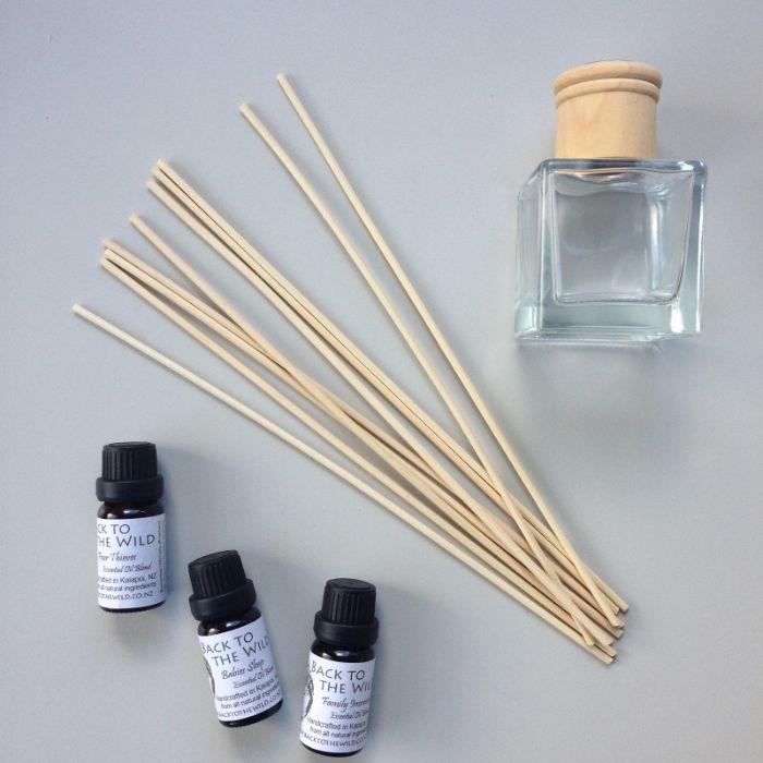 produits nécessaires projet diy diffuseur de parfum bâtonnet