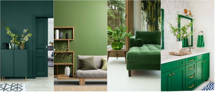 psychologie des couleurs différentes nuances du vert