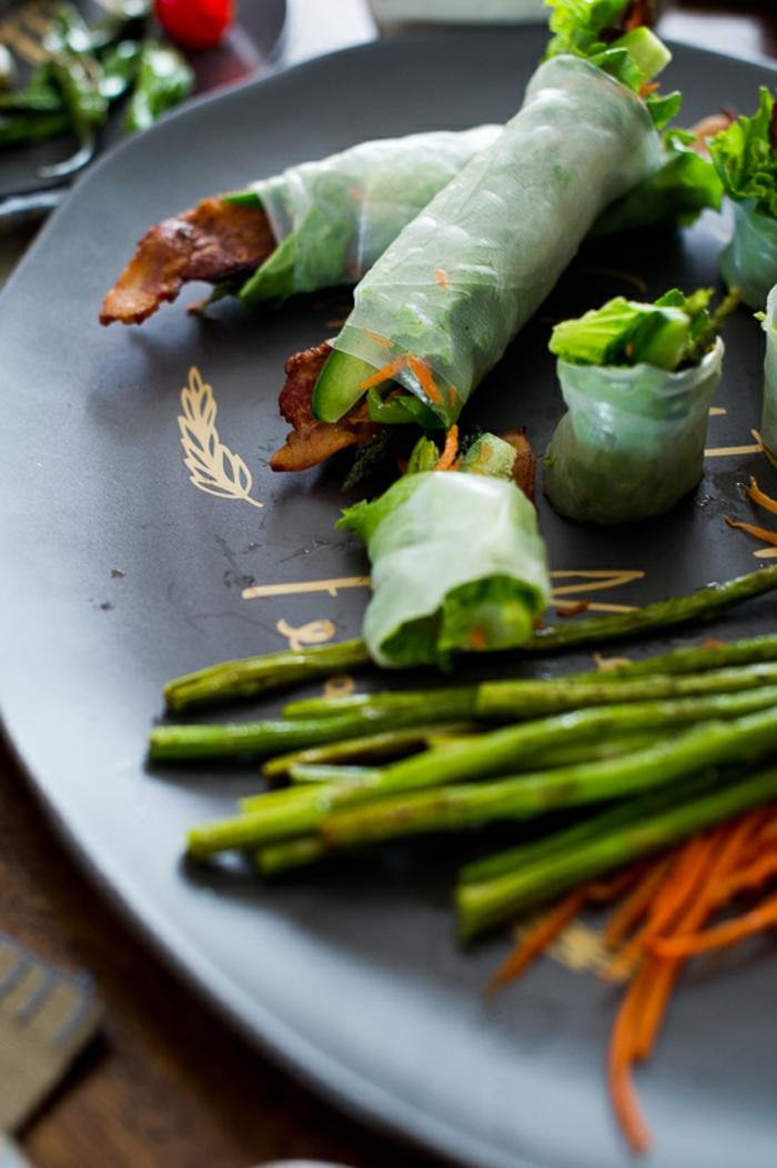 recette rouleau de printemps aux asperges
