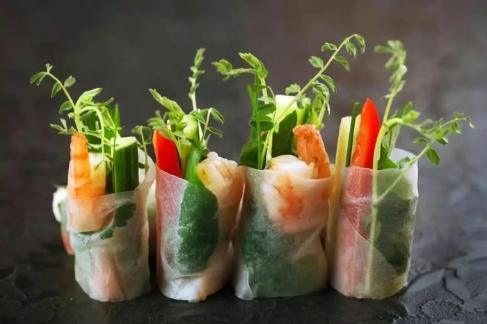 recette rouleau de printemps aux crevettes