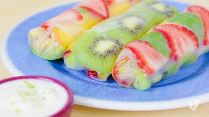 recette rouleau de printemps aux fruits