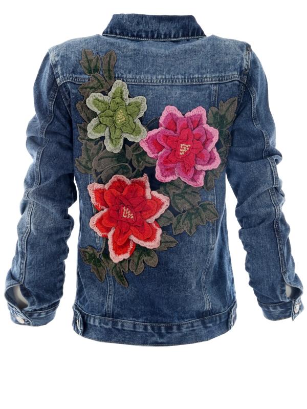 vêtement personnalisé fleurs cousues