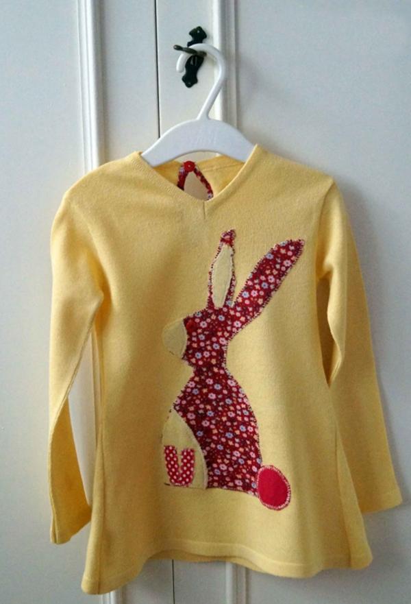 vêtement personnalisé lapin appliqué