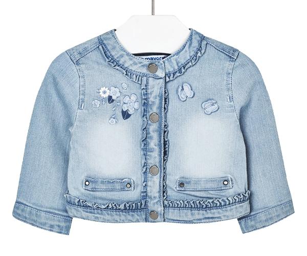 vêtement personnalisé veste denim courte