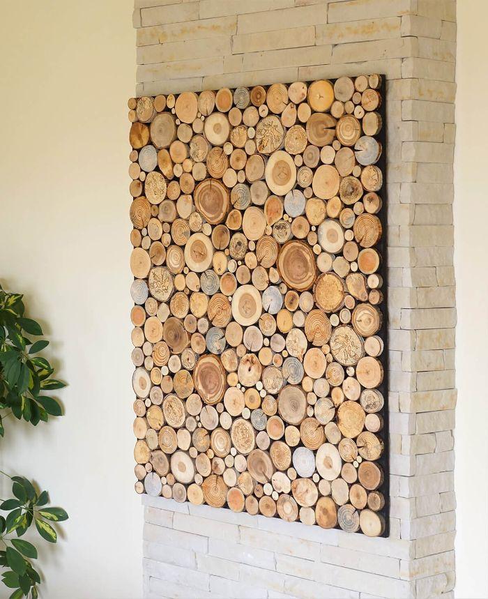 Rondin de bois déco idées inspirantes pour créer une ambiance unique déco murale