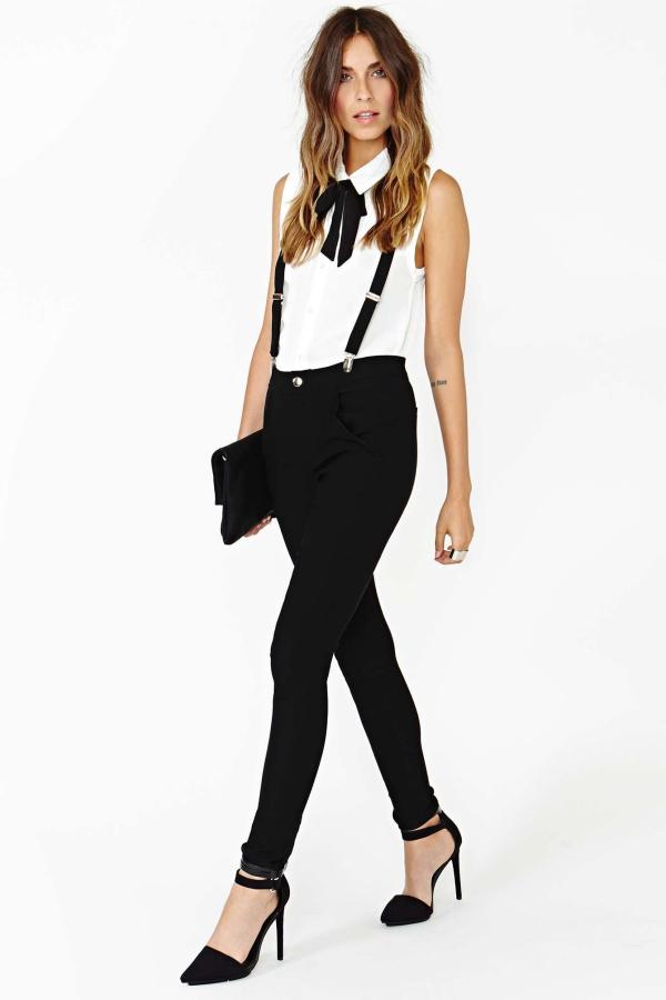 bretelles tendance 2020 blouse blanche sans manches