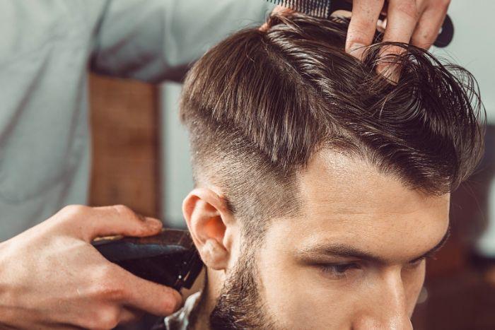 coupe homme dégradé salon de beauté coiffeur