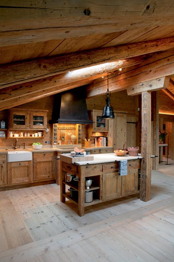 cuisine chalet en bois clair