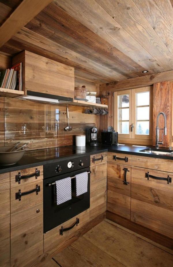 cuisine chalet espace contemporain