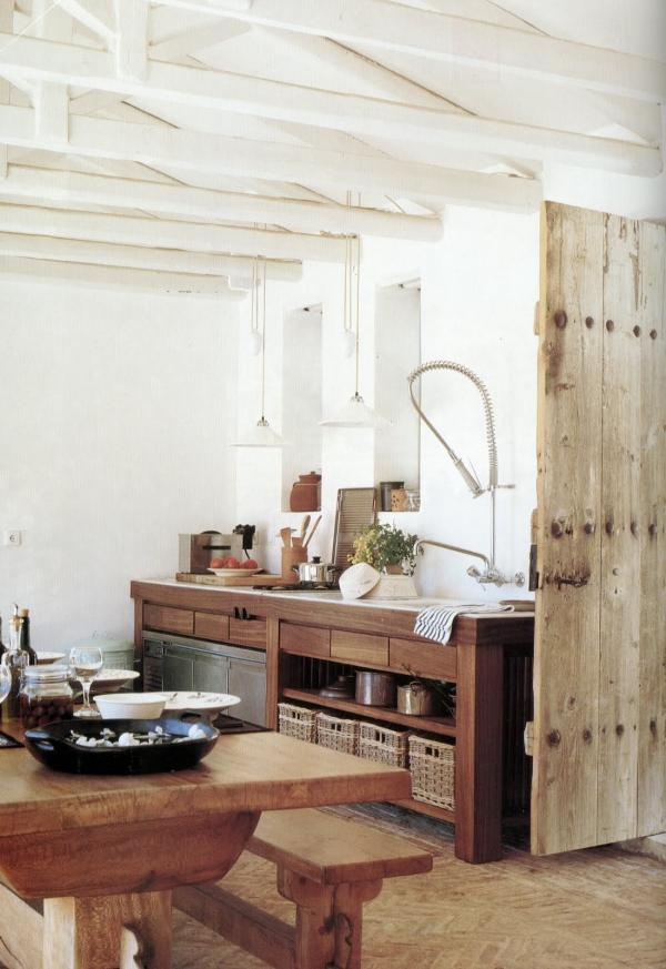 cuisine chalet grand îlot de cuisine