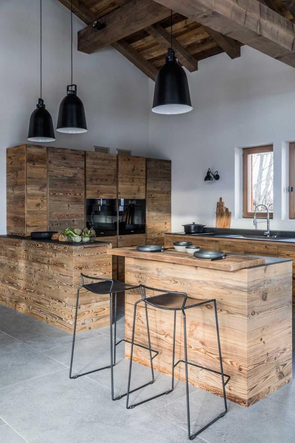 cuisine chalet un mobilier en bois élégant