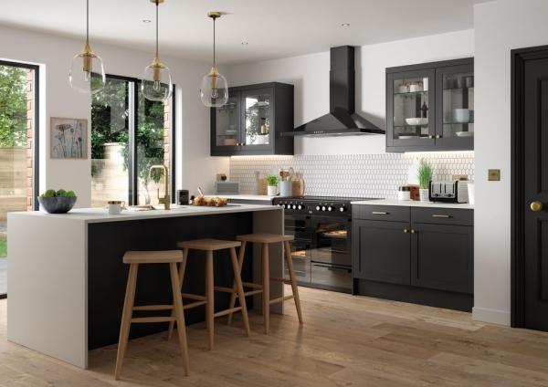 cuisine moderne 2020 armoires noires