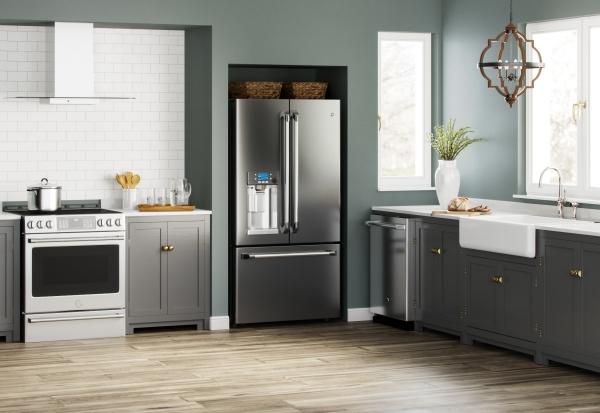 cuisine moderne 2020 deux couleurs gris et blanc