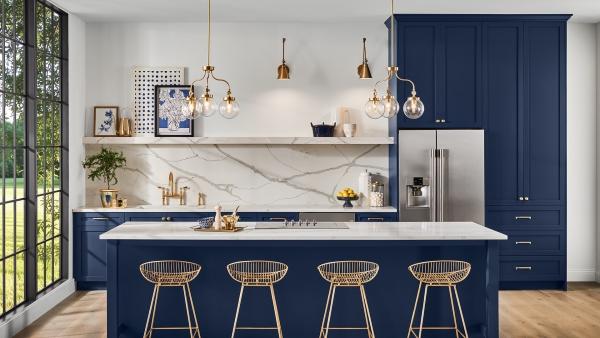 cuisine moderne 2020 finitions métalliques