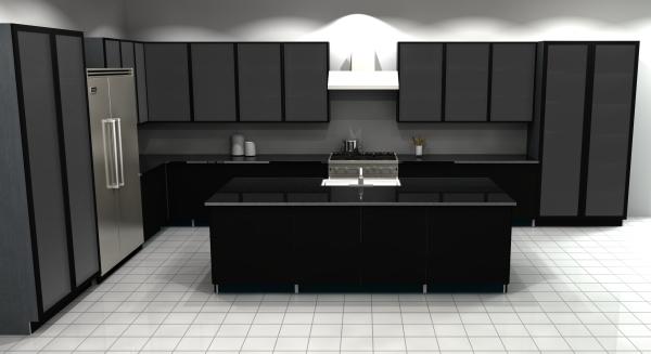 cuisine moderne 2020 noir et blanc dans la cuisine