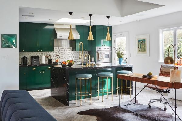 cuisine moderne 2020 vert canard