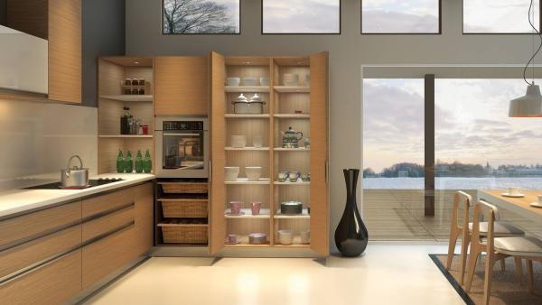 cuisine moderne 2020 vitrines et étagères