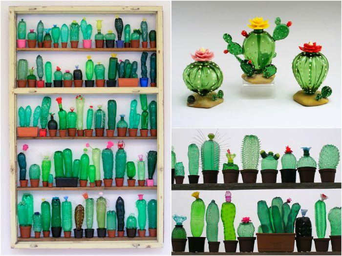 déco maison fleurs en pot recyclage bouteille plastique