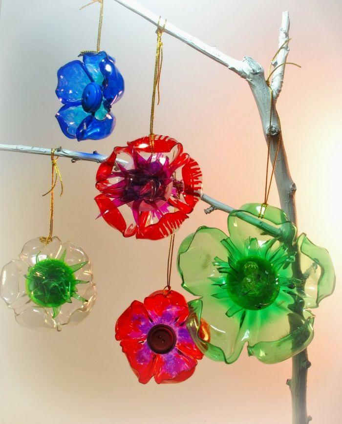 déco pour votre intérieur fleurs en plastique recyclage bouteille plastique
