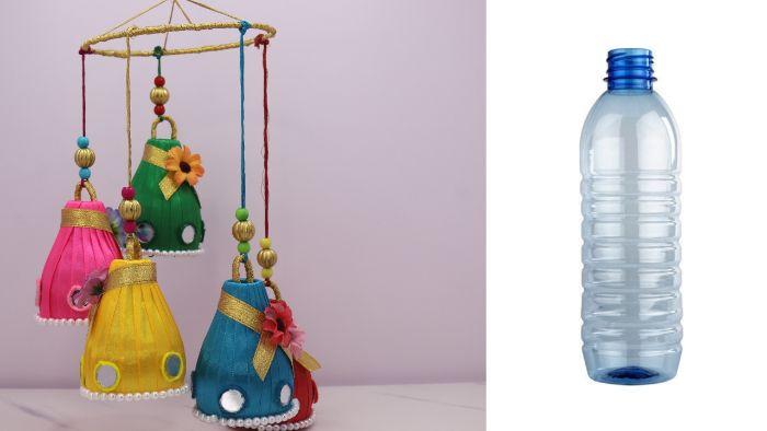 déco suspendue recyclage bouteille plastique