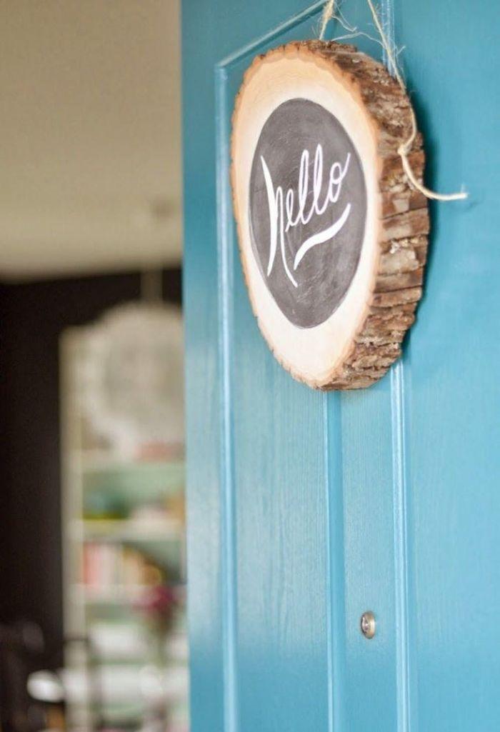 décoration porte d'entrée rondin de bois déco idées inspirantes pour créer une ambiance unique