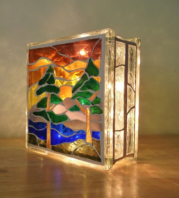 diy boîte à bijoux décorée de verre pour vitrail