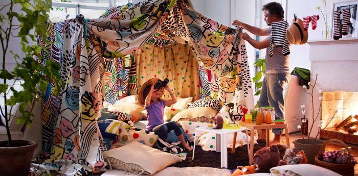 diy cabane intérieur enfant idée