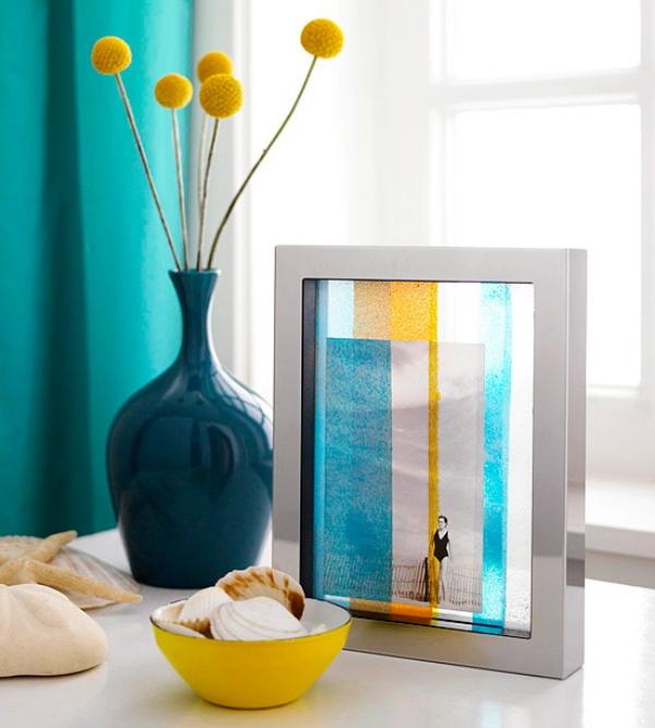 diy cadre de photo verre pour vitrail