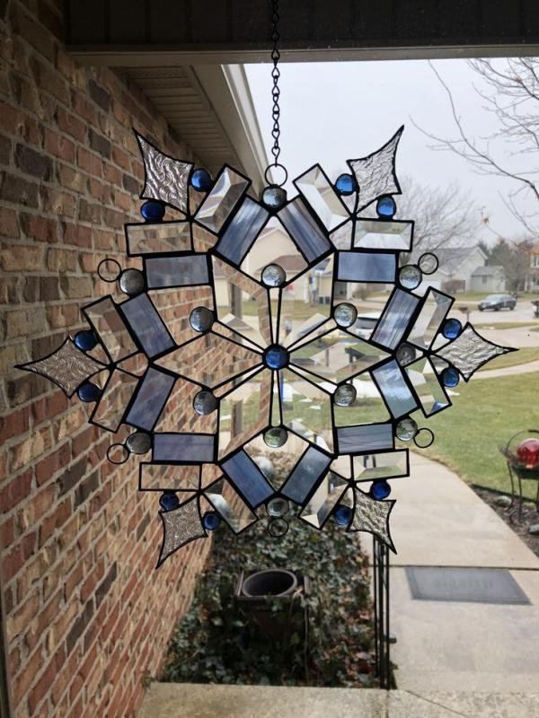 diy capteur de soleil en verre pour vitrail