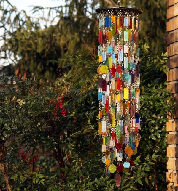 diy carillon éolien en verre pour vitrail