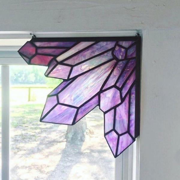 diy déco de fenêtre en verre pour vitrail