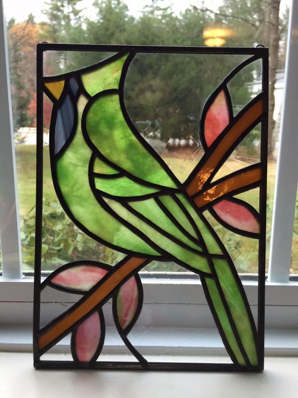 diy déco d'intérieur panneau oiseau verre pour vitrail