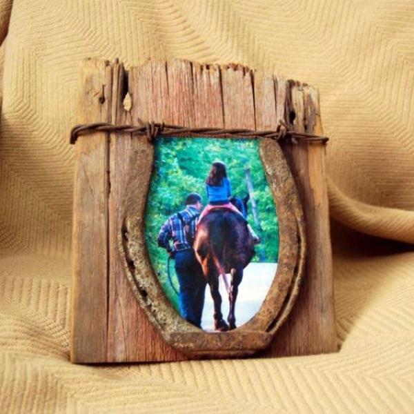 diy déco fer à cheval cadre photo