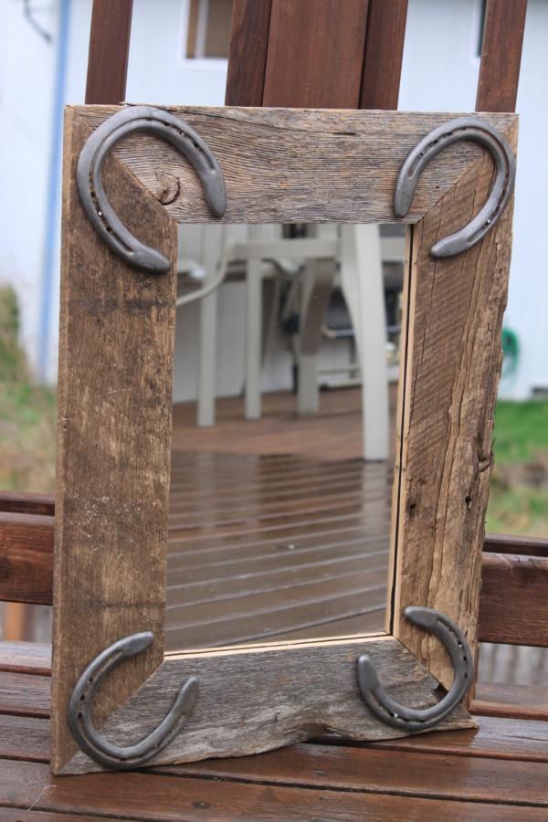 diy déco fer à cheval miroir