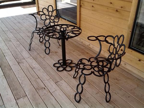diy déco fer à cheval mobilier d'extérieur