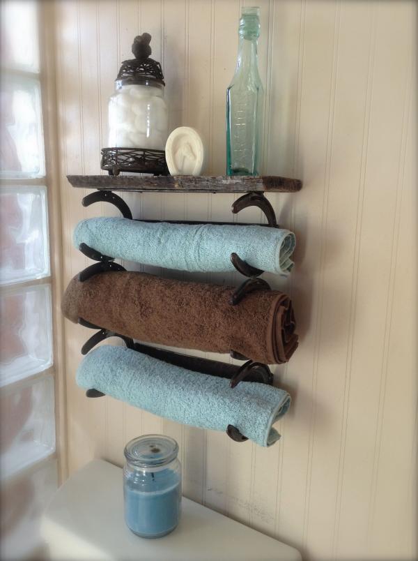 diy déco fer à cheval porte-serviettes salle de bain