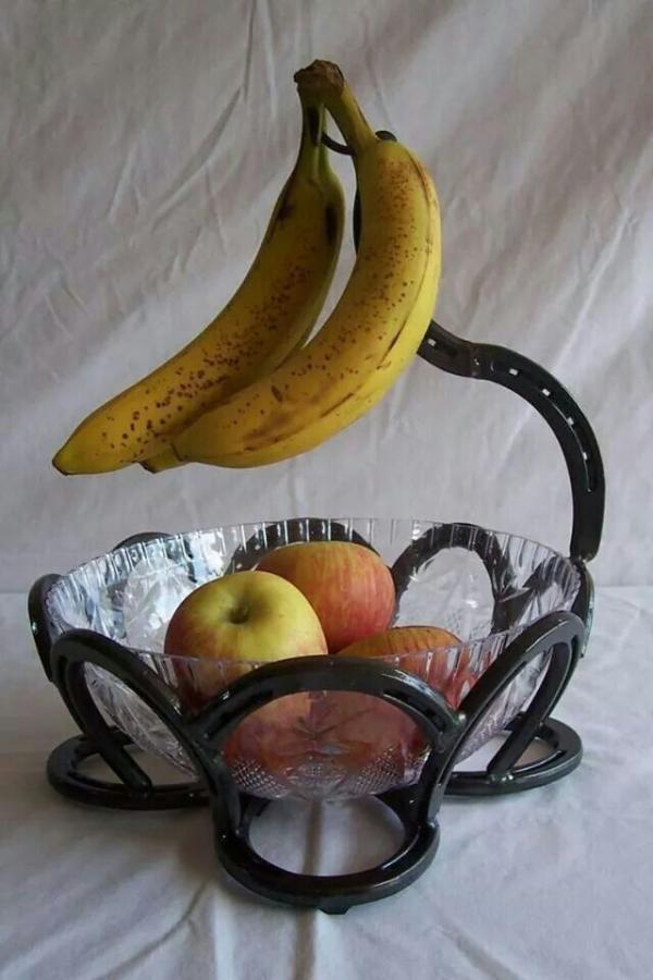 diy déco fer à cheval support pour bol à fruits