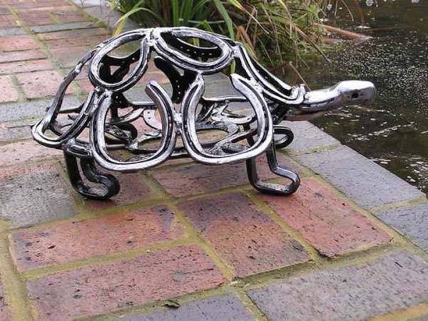 diy déco fer à cheval tortue