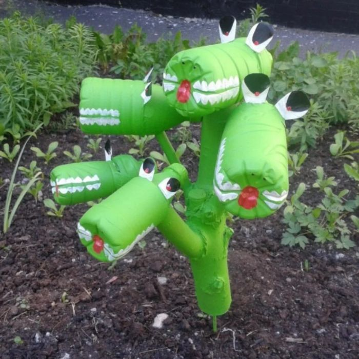 diy déco jardin recyclage bouteille plastique