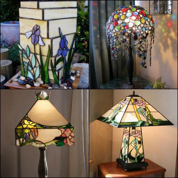 diy déco lampe de chevet décorée de verre pour vitrail