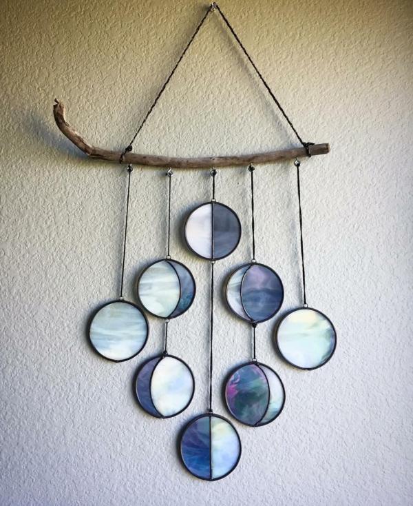 diy déco murale de bois et verre pour vitrail