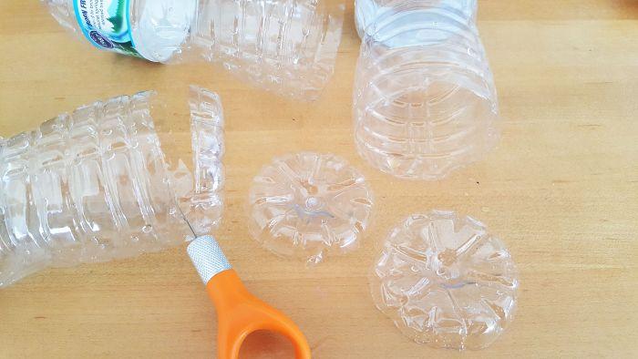 diy flocons de neige recyclage bouteille plastique