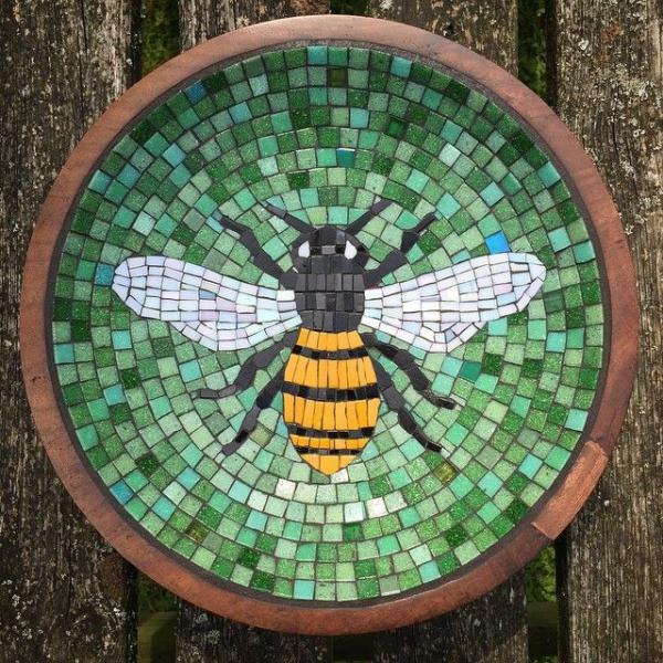 diy image d'abeille sur terre cuite verre pour vitrail