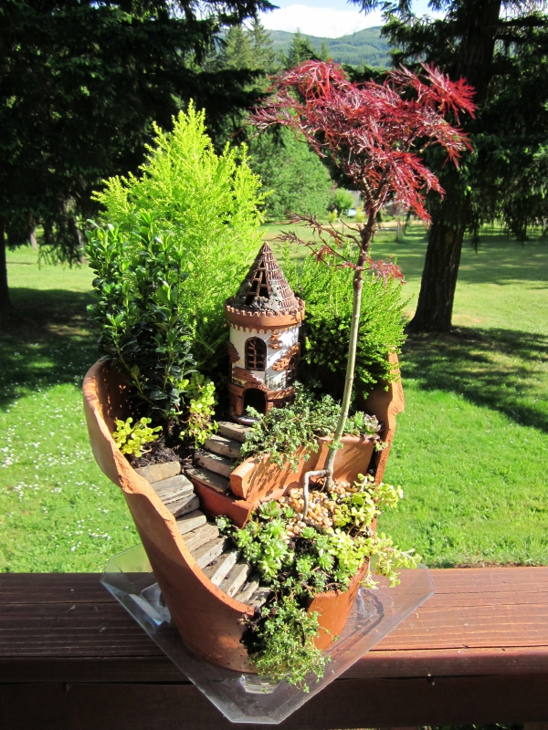 diy jardin de fée avec chateau