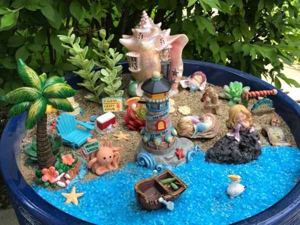 diy jardin de fée avec plage