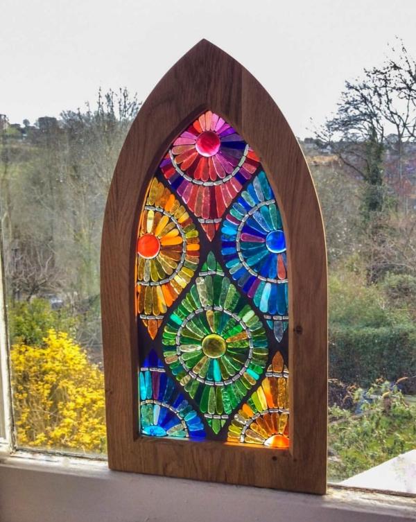 diy panneau décoratif pour fenêtre verre pour vitrail