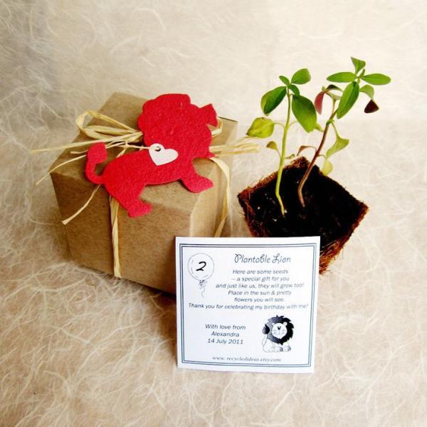 diy papier ensemencé étiquette cadeau