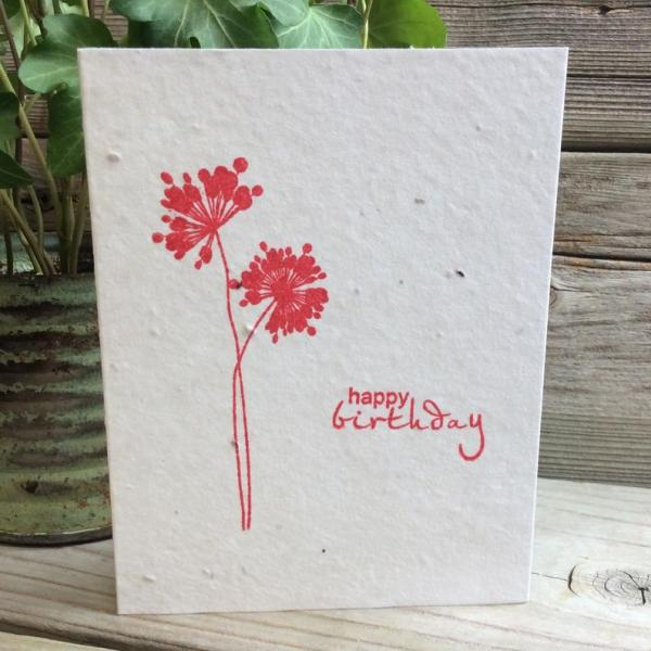 diy papier ensemencé carte d'anniversaire