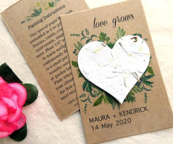 diy papier ensemencé faire-part mariage