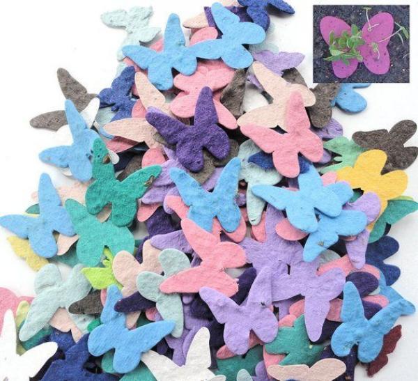 diy papier ensemencé papillons